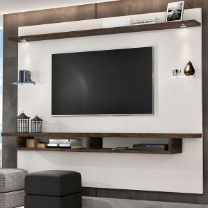 Painel Victoria P/Tv 75´´LED Estrutura Mdp of White/Nogal